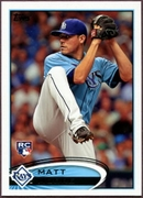 2012 Topps Factory Set Rookie Variation Matt Moore Baseball Card