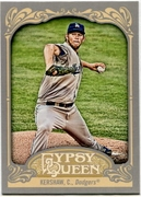 2012 Topps Gypsy Queen Clayton Kershaw Short Print Variation Baseball Card