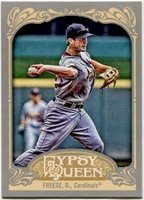 2012 Topps Gypsy Queen David Freese Short Print Variation Baseball Card