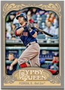 2012 Topps Gypsy Queen Dustin Pedroia Short Print Variation Baseball Card