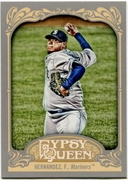2012 Topps Gypsy Queen Felix Hernandez Short Print Variation Baseball Card