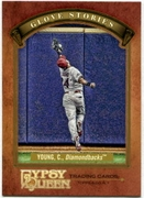 2012 Topps Gypsy Queen Glove Stories Chris Young Baseball Card