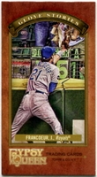 2012 Topps Gypsy Queen Glove Stories Mini Jeff Francoeur Baseball Card
