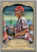 2012 Topps Gypsy Queen Jered Weaver Short Print Variation Baseball Card
