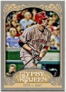 2012 Topps Gypsy Queen Joey Votto Short Print Variation Baseball Card