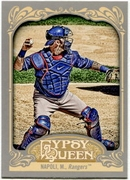 2012 Topps Gypsy Queen Mike Napoli Short Print Variation Baseball Card