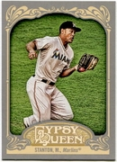 2012 Topps Gypsy Queen Mike Stanton Short Print Variation Baseball Card