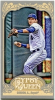 2012 Topps Gypsy Queen Mini Alex Gordon Variation Baseball Card