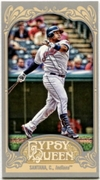 2012 Topps Gypsy Queen Mini Carlos Santana Baseball Card