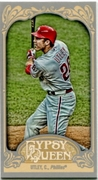 2012 Topps Gypsy Queen Mini Chase Utley Variation Baseball Card