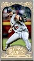 2012 Topps Gypsy Queen Mini Chris Carpenter Baseball Card