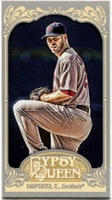2012 Topps Gypsy Queen Mini Chris Carpenter Variation Baseball Card