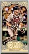2012 Topps Gypsy Queen Mini Dan Uggla Variation Baseball Card