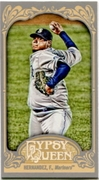 2012 Topps Gypsy Queen Mini Felix Hernandez Variation Baseball Card