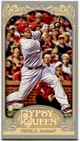 2012 Topps Gypsy Queen Mini Gypsy Queen Back David Freese Baseball Card