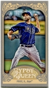 2012 Topps Gypsy Queen Mini Gypsy Queen Back David Price Baseball Card