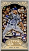 2012 Topps Gypsy Queen Mini Gypsy Queen Back Matt Moore Baseball Card