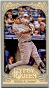 2012 Topps Gypsy Queen Mini Mark Teixeira Variation Baseball Card
