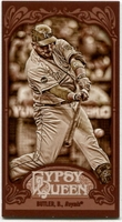 2012 Topps Gypsy Queen Mini Sepia Billy Butler Baseball Card