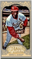 2012 Topps Gypsy Queen Mini Straight Cut Back Bob Gibson Baseball Card