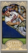 2012 Topps Gypsy Queen Mini Straight Cut Back Dan Uggla Baseball Card