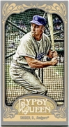2012 Topps Gypsy Queen Mini Straight Cut Back Duke Snider Baseball Card