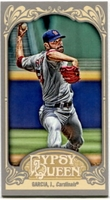 2012 Topps Gypsy Queen Mini Straight Cut Back Jaime Garcia Baseball Card