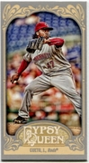 2012 Topps Gypsy Queen Mini Straight Cut Back Johnny Cueto Baseball Card