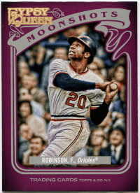 2012 Topps Gypsy Queen Moonshots Frank Robinson Baseball Card