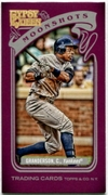 2012 Topps Gypsy Queen Moonshots Mini Curtis Granderson Baseball Card