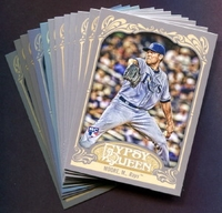 2012 Topps Gypsy Queen Tampa Bay Rays Baseball Cards Team Set