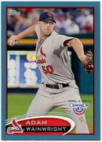 2012 Topps Opening Day Blue Adam Wainwright Baseball Card