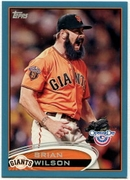 2012 Topps Opening Day Blue Brian Wilson Baseball Card