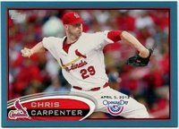 2012 Topps Opening Day Blue Chris Carpenter Baseball Card