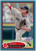 2012 Topps Opening Day Blue Clay Buchholz Baseball Card