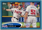 2012 Topps Opening Day Blue Dan Uggla Baseball Card