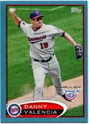2012 Topps Opening Day Blue Danny Valencia Baseball Card