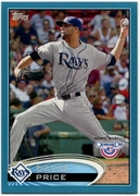 2012 Topps Opening Day Blue David Price Baseball Card