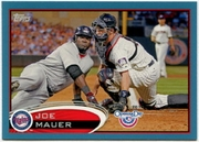 2012 Topps Opening Day Blue Joe Mauer Baseball Card