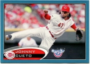 2012 Topps Opening Day Blue Johnny Cueto Baseball Card