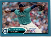 2012 Topps Opening Day Blue Michael Pineda Baseball Card