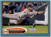 2012 Topps Opening Day Blue Pablo Sandoval Baseball Card