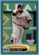 2012 Topps Opening Day Blue Prince Fielder Baseball Card