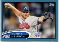 2012 Topps Opening Day Blue Tommy Hanson Baseball Card