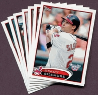 2012 Topps Opening Day Cleveland Indians Baseball Cards Team Set