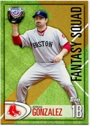 2012 Topps Opening Day Fantasy Squad Adrian Gonzalez Baseball Card