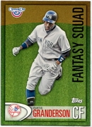 2012 Topps Opening Day Fantasy Squad Curtis Granderson Baseball Card