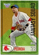 2012 Topps Opening Day Fantasy Squad Dustin Pedroia Baseball Card