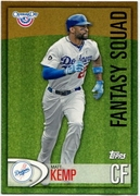 2012 Topps Opening Day Fantasy Squad Matt Kemp Baseball Card
