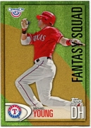 2012 Topps Opening Day Fantasy Squad Michael Young Baseball Card